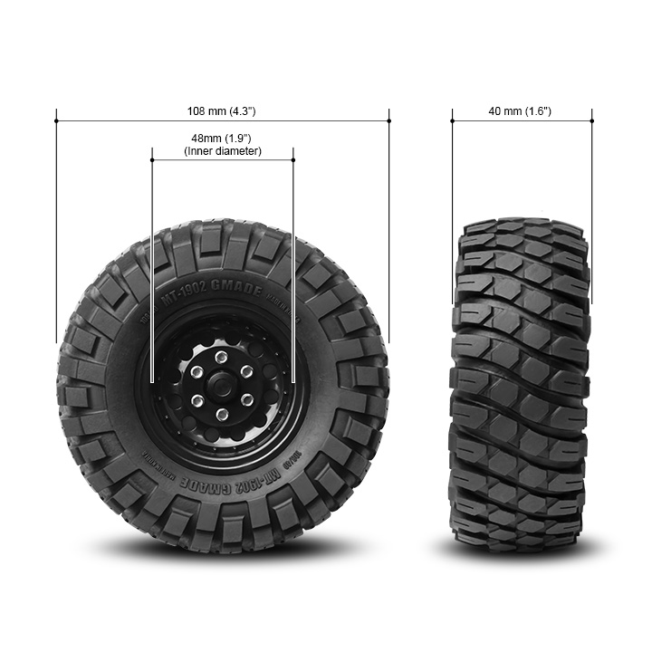 1.9 MT 1902 Off-road Tires (2) : Gmade Dealer Webstore